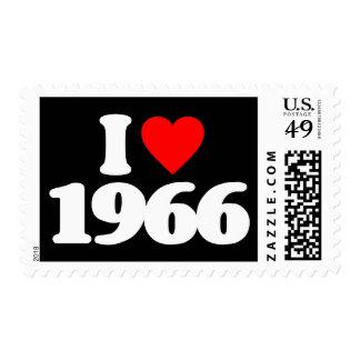 I LOVE 1966 POSTAGE STAMP