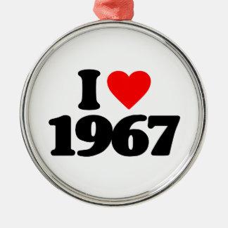 I LOVE 1967 ORNAMENT