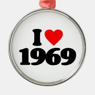 I LOVE 1969 CHRISTMAS ORNAMENT
