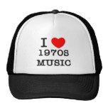 I Love 1970s Music Hats