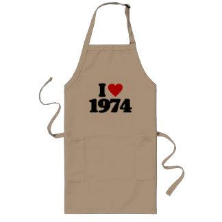 I LOVE 1974 APRON