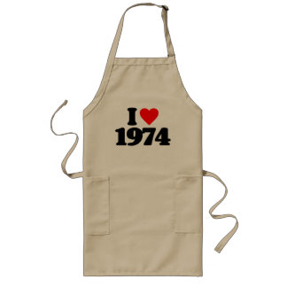 I LOVE 1974 LONG APRON