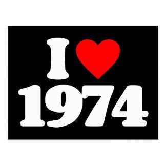 I LOVE 1974 POSTCARD