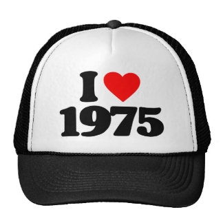 I LOVE 1975 TRUCKER HAT