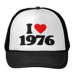I LOVE 1976 HAT