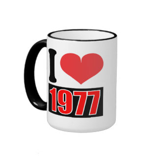 I love 1977 - Mugs