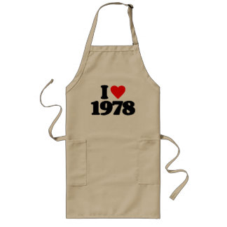 I LOVE 1978 APRON