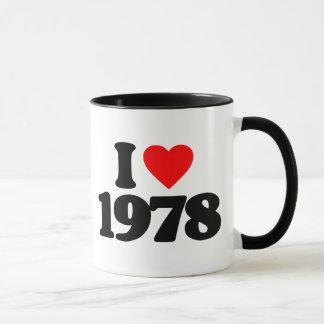 I LOVE 1978 MUG