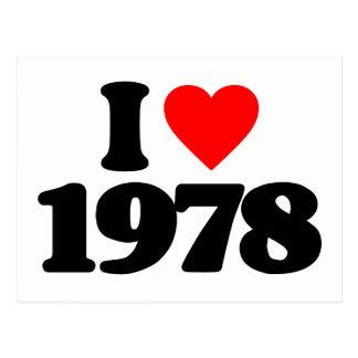 I LOVE 1978 POSTCARD