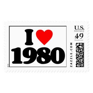 I LOVE 1980 POSTAGE