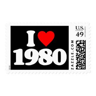 I LOVE 1980 POSTAGE STAMP