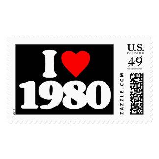 I LOVE 1980 POSTAGE STAMPS