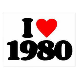 I LOVE 1980 POSTCARD