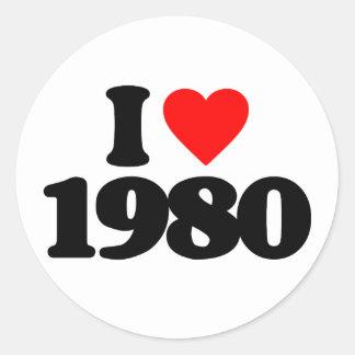 I LOVE 1980 STICKER