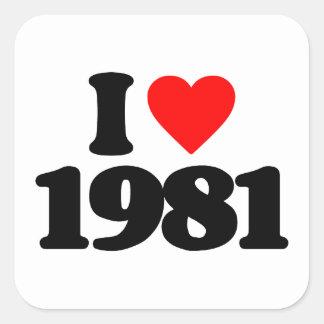 I LOVE 1981 STICKER