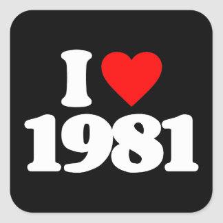 I LOVE 1981 STICKERS
