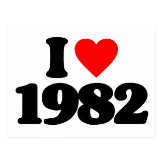I LOVE 1982 POSTCARD