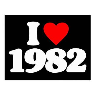 I LOVE 1982 POST CARD