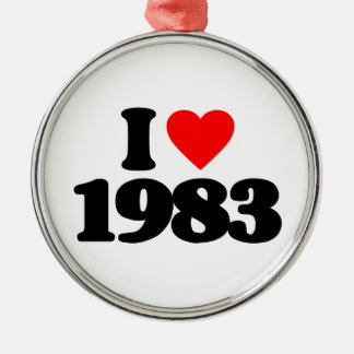 I LOVE 1983 ORNAMENTS