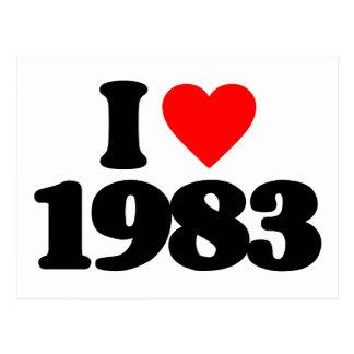 I LOVE 1983 POSTCARDS