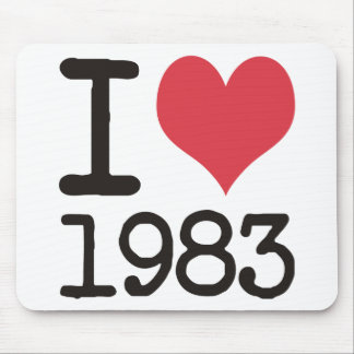 I Love 1983 Products & Designs! Mouse Pad