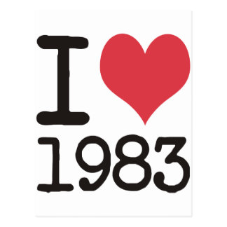 I Love 1983 Products & Designs! Postcard