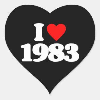 I LOVE 1983 HEART STICKER