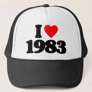 I LOVE 1983 TRUCKER HAT