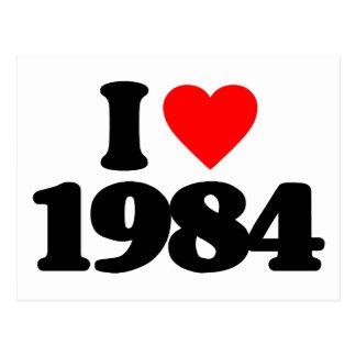 I LOVE 1984 POSTCARD