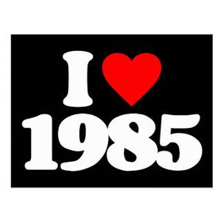 I LOVE 1985 POSTCARD