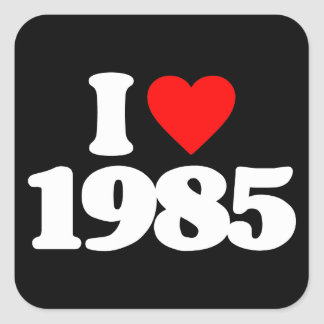 I LOVE 1985 STICKERS