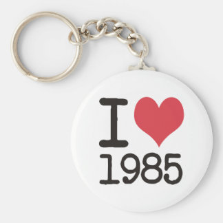 I Love 1985 T-Shirts Products & Designs! Keychain