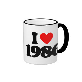 I LOVE 1986 MUGS