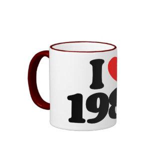 I LOVE 1986 COFFEE MUGS