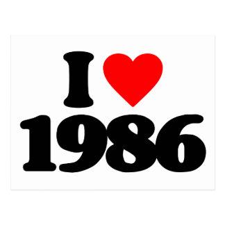 I LOVE 1986 POSTCARD