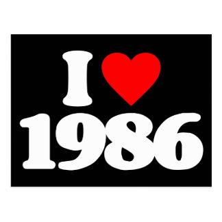 I LOVE 1986 POST CARD