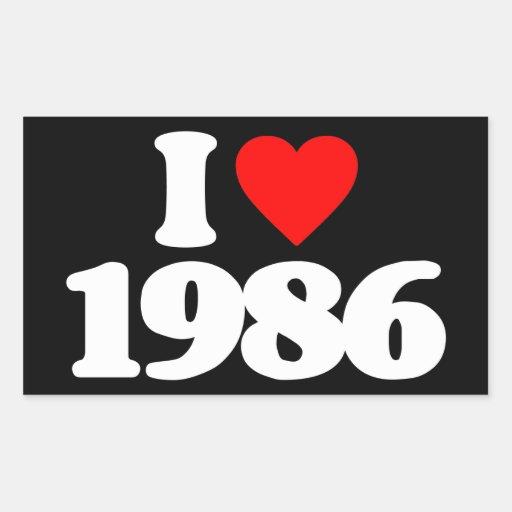 I LOVE 1986 STICKERS