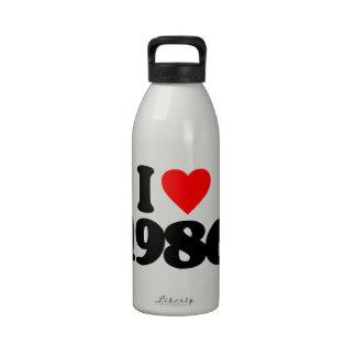 I LOVE 1986 REUSABLE WATER BOTTLES