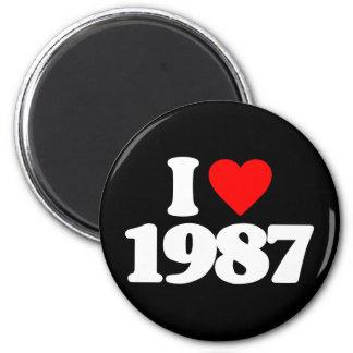 I LOVE 1987 2 INCH ROUND MAGNET