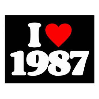 I LOVE 1987 POSTCARD
