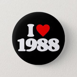 I LOVE 1988 PINBACK BUTTON