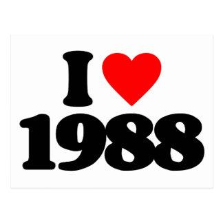 I LOVE 1988 POSTCARD