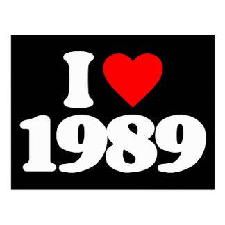 I LOVE 1989 POSTCARD