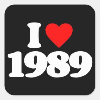I LOVE 1989 STICKERS
