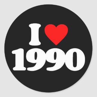 I LOVE 1990 STICKER
