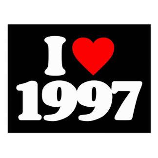 I LOVE 1997 POSTCARD