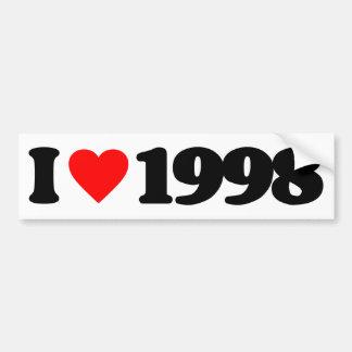 I LOVE 1998 CAR BUMPER STICKER