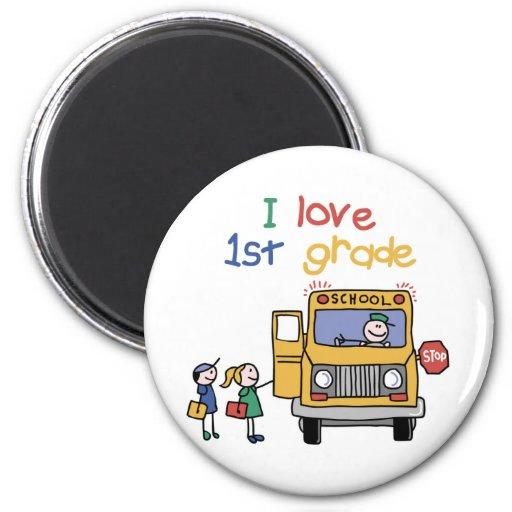 I Love 1st Grade 2 Inch Round Magnet