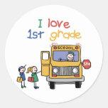 I Love 1st Grade Classic Round Sticker