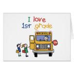 I Love 1st Grade Greeting Card